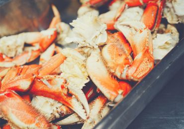 Crabs in foil pan - fish and seafood smoking times